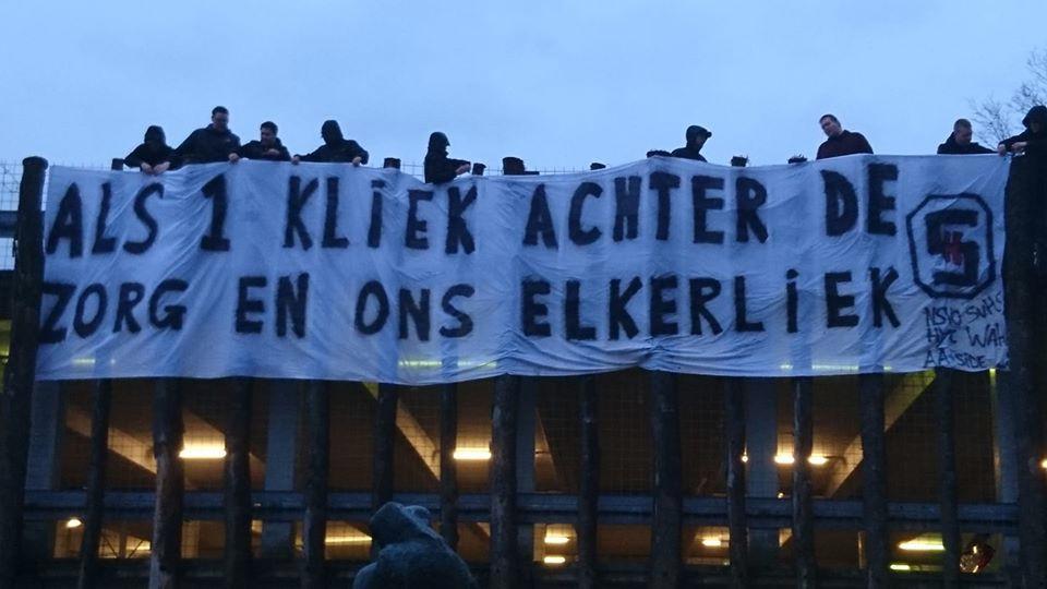 Helmond Sport-supporters tonen hun waardering aan het personeel van Elkerliek.