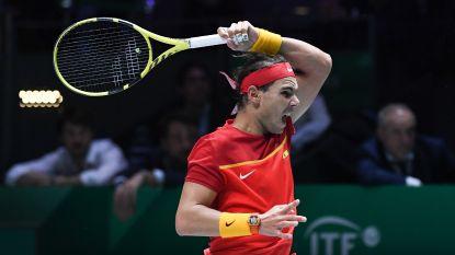 """Spanje wint van Rusland, Nadal uit z'n ongenoegen: """"Tennis na middernacht maakt het moeilijk"""""""