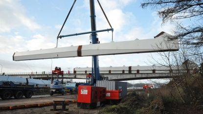 Boogdelen en boogstrik van nieuwe brug over Albertkanaal worden dit weekend gemonteerd