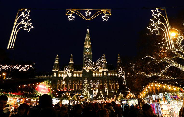 De Rathausplatz in Wenen, Oostenrijk.