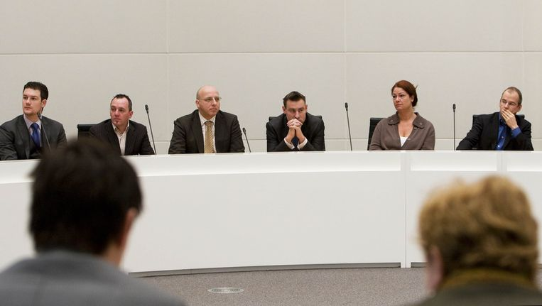 Arnoud van Doorn (rechts) bij de uitslag van de gemeenteraadsverkiezingen eerder. Archieffoto. © ANP Beeld