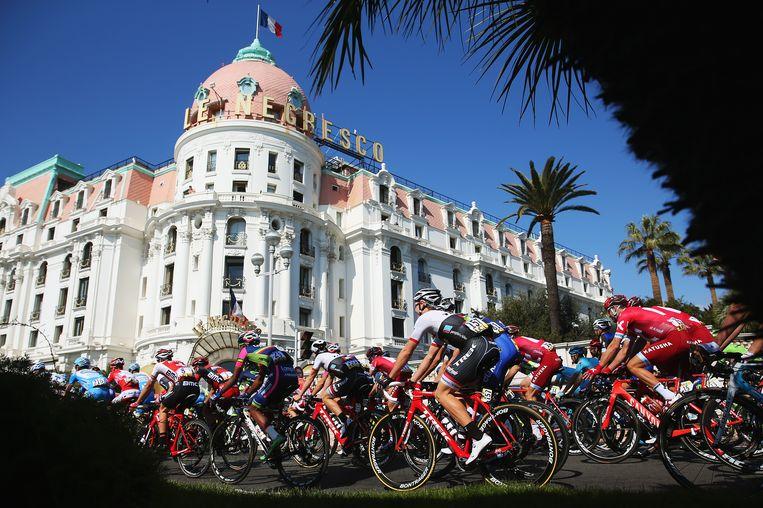 Le Negresco tijdens de Tour de France van 2013. Beeld getty