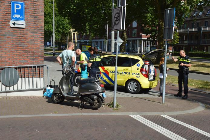 Politie en ambulance er plaatse.