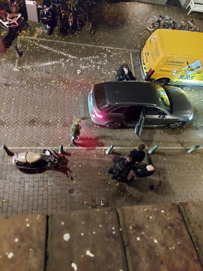 Aanhouding van de verdachte in Den Haag.