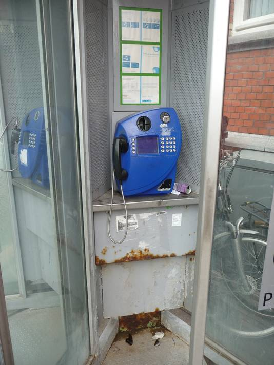 De telefooncellen op het Stationsplein