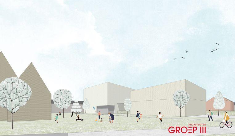 Zo zou de publieke groene ruimte eruit kunnen zien.
