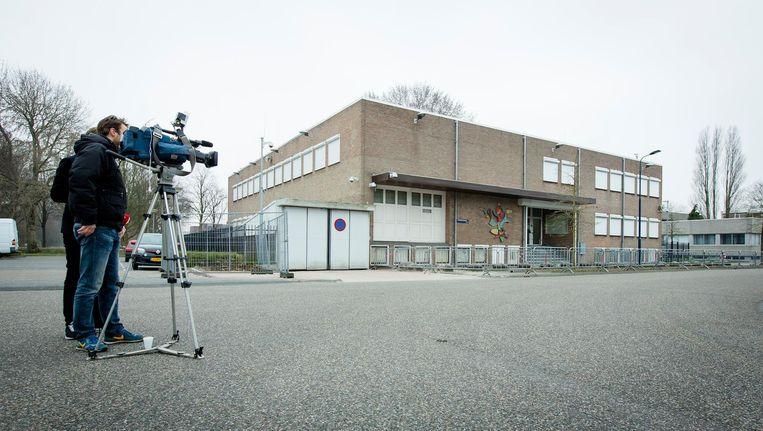 De justitiële bunker in Osdorp, waar de eis maandag werd uitgesproken. Beeld anp