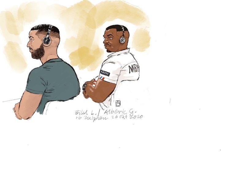 Bilal L. en Alberic G. zijn twee van de vier mannen uit Frankrijk die verdacht worden van een poging de tot levenslang veroordeelde Omar L. uit de PI Zutphen te bevrijden. Beeld ANP