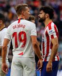 Spitsenduel: Luuk de Jong en Diego Costa.
