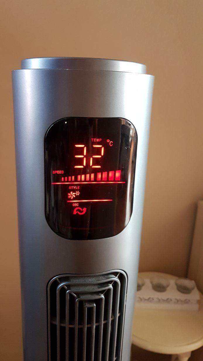 Buiten is het 40 graden bij Letitia de Kruif in Breda, binnen 32 graden