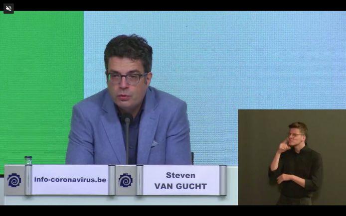 Steven Van Gucht, porte-parole interfédéral Covid-19.