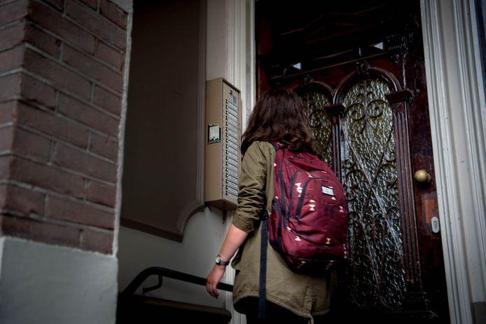 Een studentenhuis in Nijmegen. Foto ter illustratie