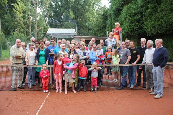 Tennisclub Byblos enkele jaren geleden. Op deze plek is nu het bedrijf Movianto gevestigd.