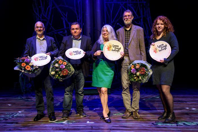 De winnaars van de laatste 'Loon op Zand beleeft' op 25 oktober 2017.
