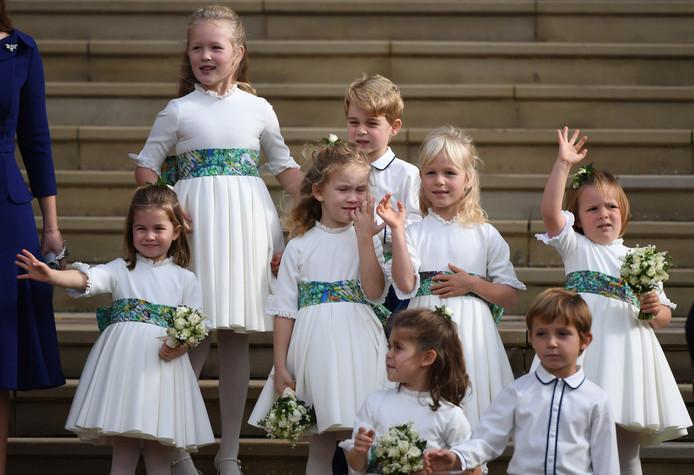 Onder de bruidskinderen waren ook prinses Charlotte en prins George.