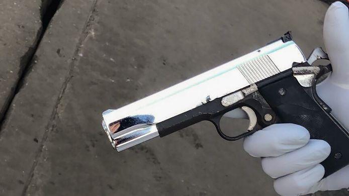 Een van de in beslag genomen vuurwapens.