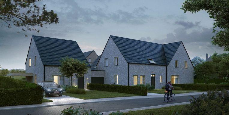 Het kleinschalig woonproject aan de Duinaartweg in Erpe.