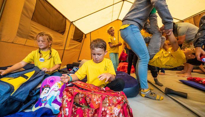 De kinderen mochten vorig jaar bij Jeugd Aktief overnachten.
