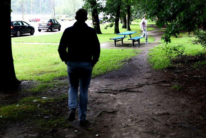 Het bos bij parkeerplaats Ginkelse Zand.