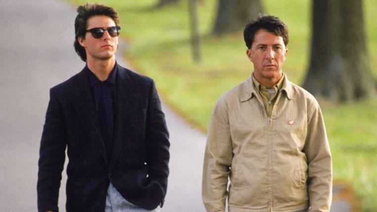 Dustin Hoffman en Tom Cruise in Rain Man Beeld -