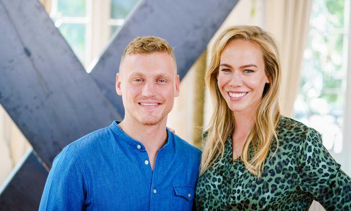 Presentatoren Kaj Gorgels en Nicolette Kluijver van Expeditie Robinson.