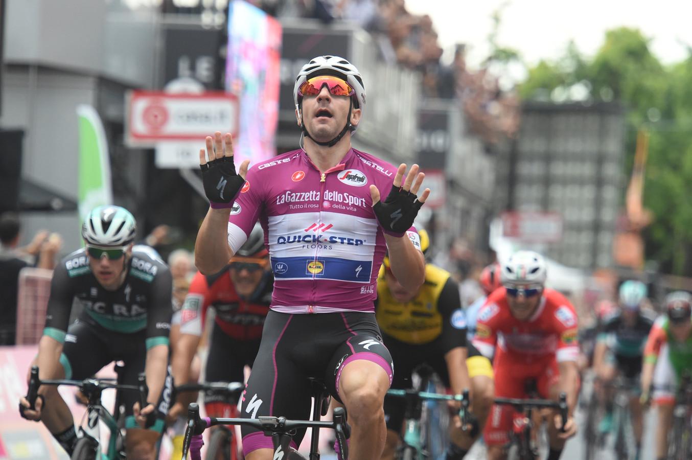 Viviani na zijn derde ritoverwinning.