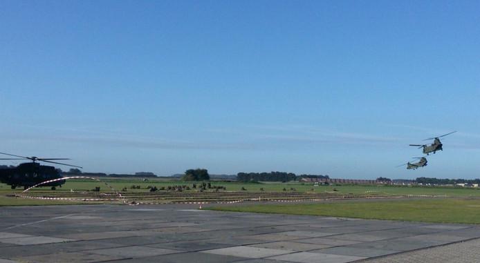 Militaire oefening in Arnemuiden.