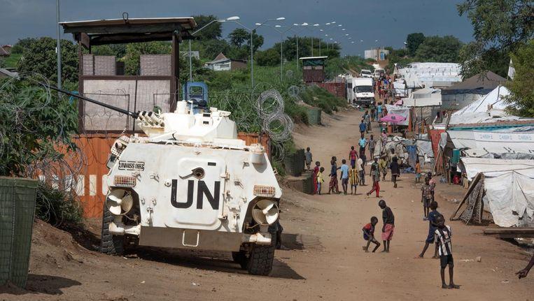Een tank op straat in Zuid-Soedan. Beeld ap