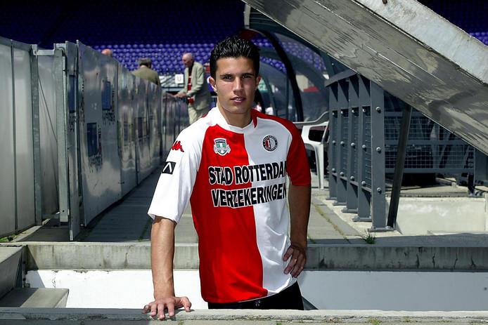 Robin van Persie in het shirt van Feyenoord.