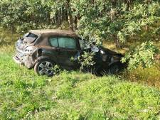 Automobilist raakt van weg op A35 bij Borne en laat spoor van vernieling achter