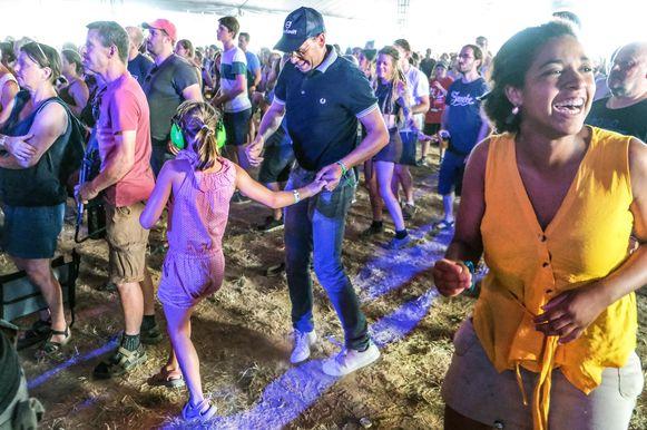 Veel blije mensen op het festival dit jaar.