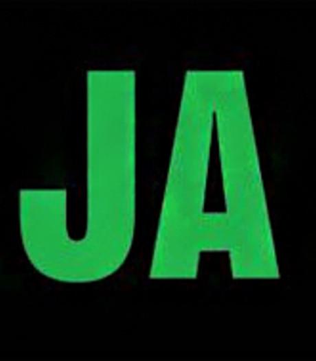 Ja-nee-sticker in Alphen opnieuw verspreid