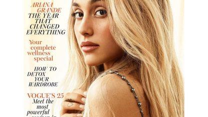 Make-uploze Ariana Grande is onherkenbaar op de cover van Vogue