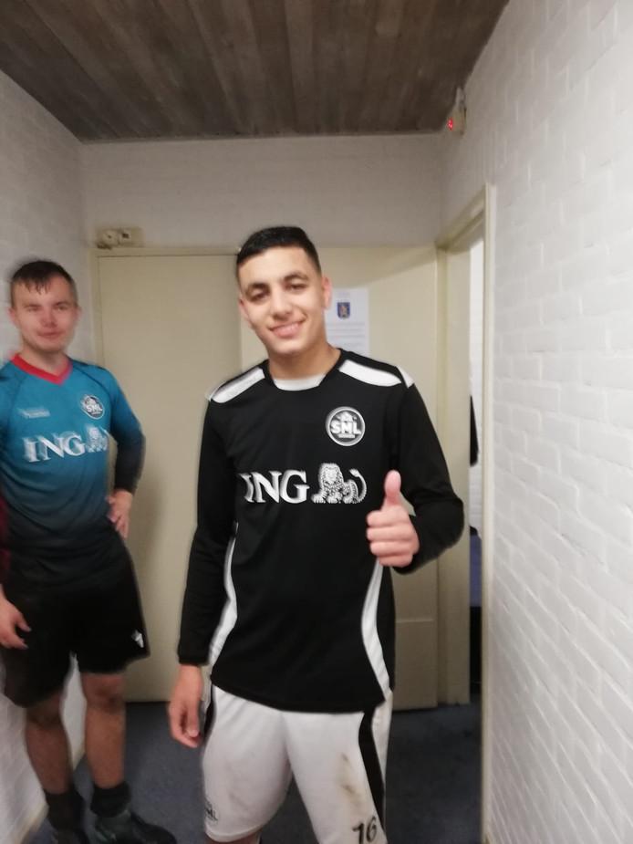 SML-speler Ilias El Kharcha is blij met zijn beslissende rol in de kwartfinale van de Arnhem Cup tegen AVW'66.