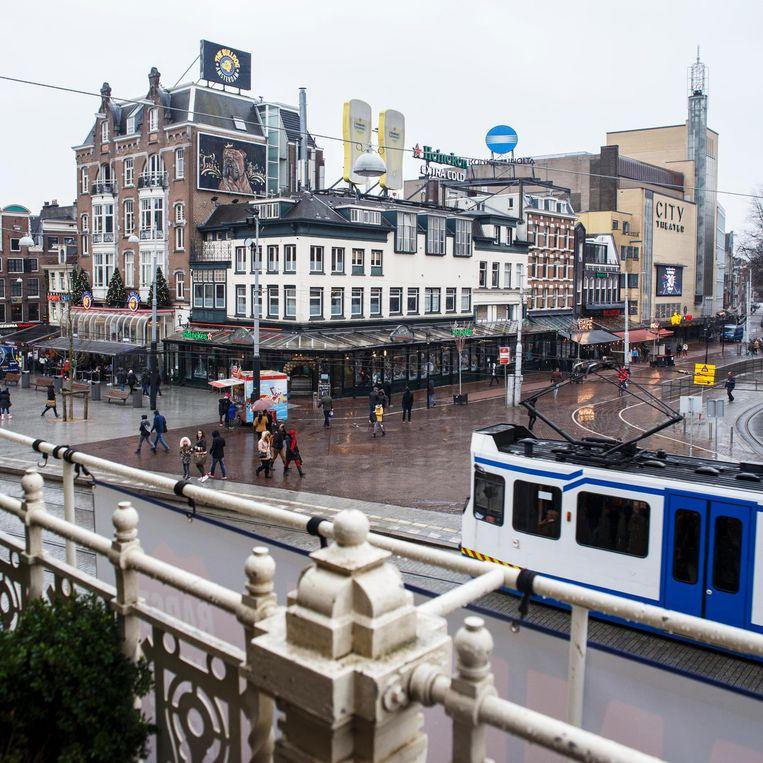 Het Ajaxterras van de Stadsschouwburg Beeld Carly Wollaert