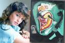 Helen McCourt (22) werd in 1988 vermoord. Rechts het schilderij dat van de hand zou zijn van haar moordenaar.