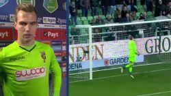 """Vitesse-doelman blundert na owngoal van formaat: """"Als ik die bal pak, is dat dan niet een rode kaart?"""""""
