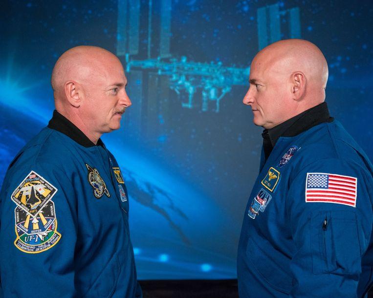 Mark en Scott Kelly, 19 januari 2015. Beeld NASA