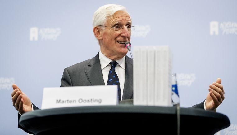 Marten Oosting tijdens de presentatie van de onderzoekscommissie Oosting II. Beeld anp