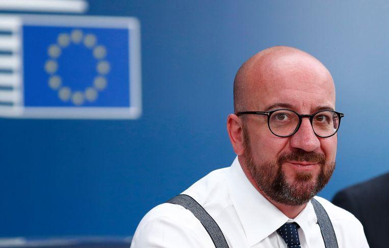 Charles Michel in Brussel. Beeld EPA