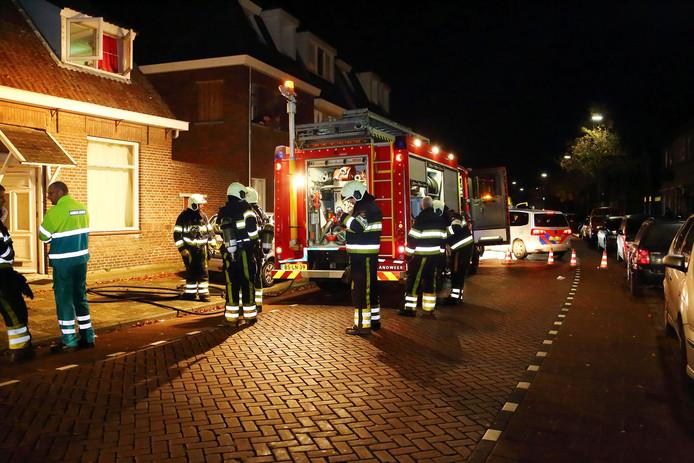 De woningbrand aan de Berghemseweg in Oss was snel onder controle.