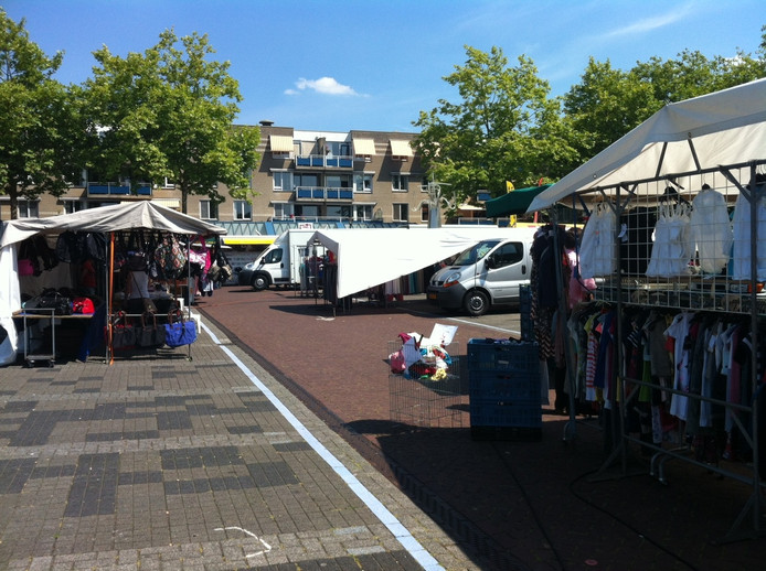 De weekmarkt in Vught.