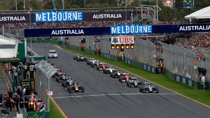De grid tijdens de Grand Prix van Australië in 2016