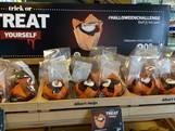Bijzondere Halloweensnack: muffin met sprinkhaan