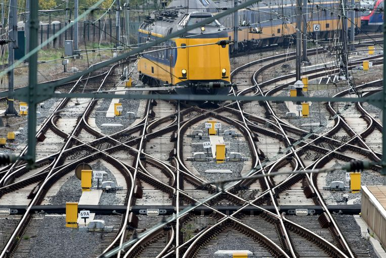 Rails bij station Heerlen. Beeld Hollandse Hoogte
