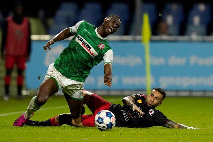 Dehninio Muringen is een van de ontbrekende spelers bij FC Dordrecht vrijdagavond.