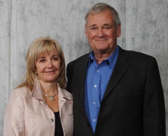 Ron Carey en zijn echtgenote.