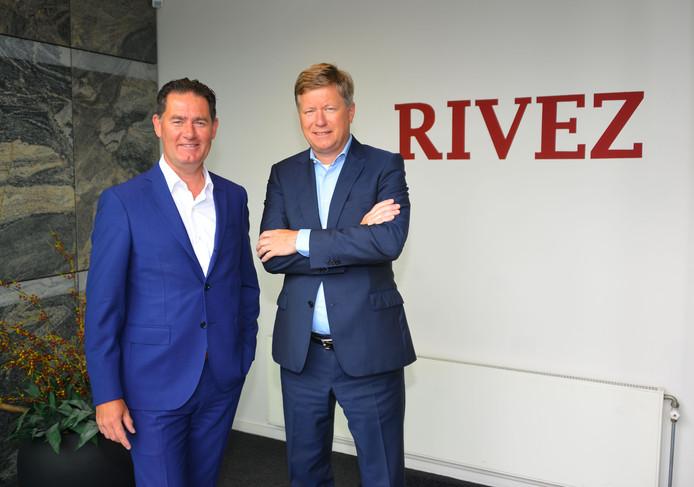 Wiljon Schepers (links) en Gerard Groot van Rivez in Helmond.