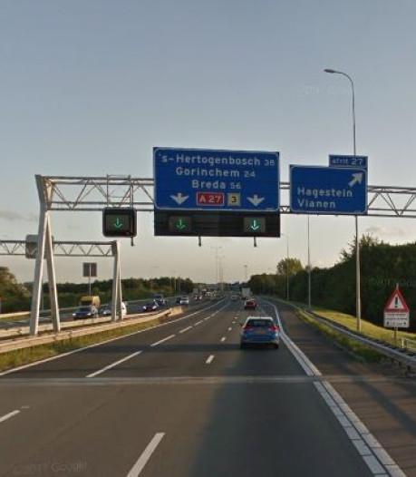 Aanrijding met meerdere voertuigen op A27 bij Meerkerk: verkeer wordt omgeleid