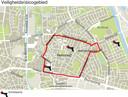 Het veiligheidsrisicogebied in Helmond.